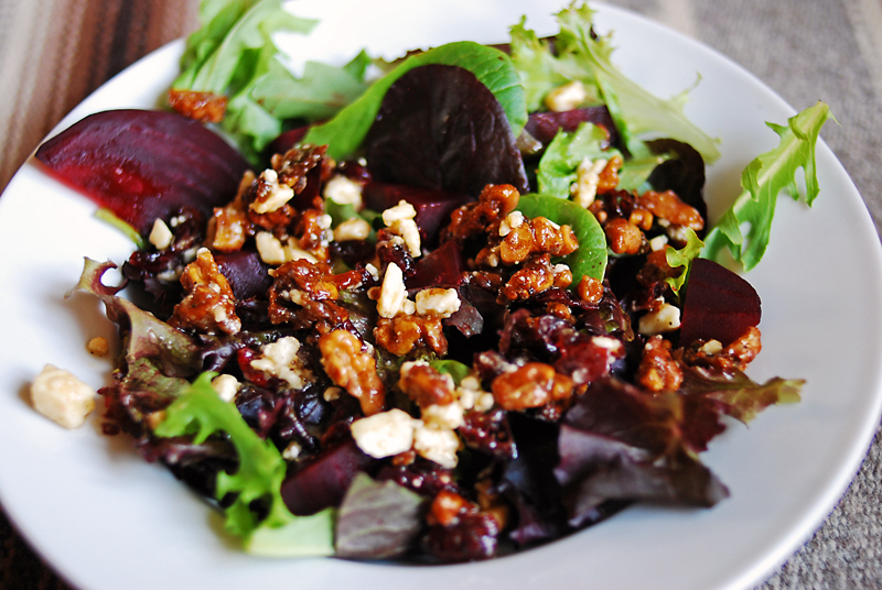 Roasted Beet Salad with Caramelized Walnuts: Thru The Bugs