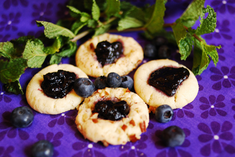 Blueberry Mojito Thumprint Cookies II