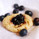 Blueberry Mojito Thumbprint Cookies