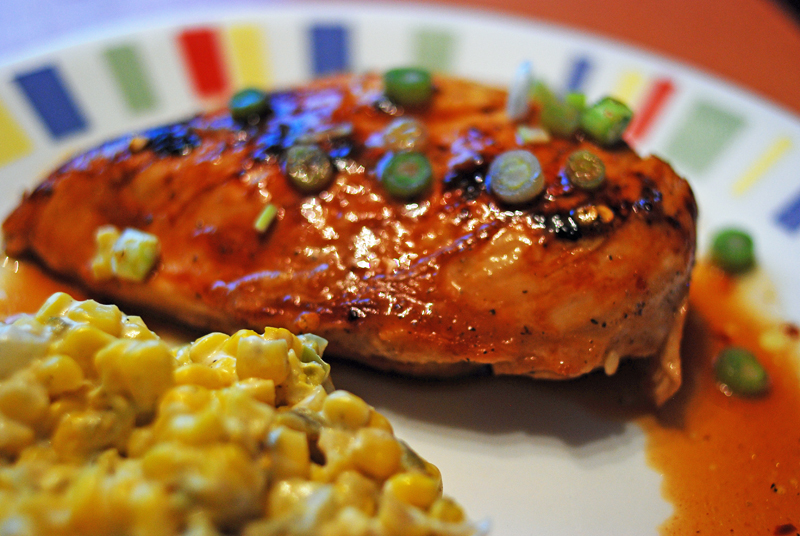 Citrus Asian Chicken and Southwestern Creamed Corn