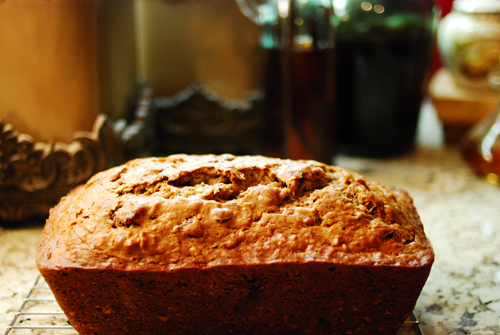 Banana Zucchini Bread with Cranberries and Walnuts