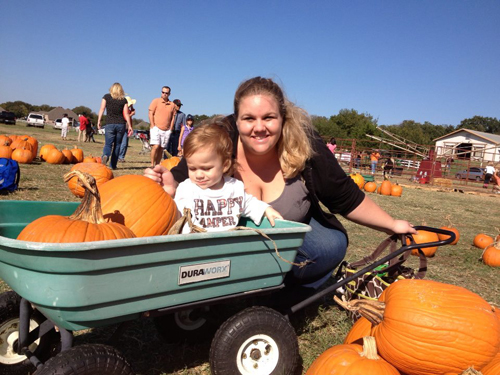 Kaison and Jeni at the Pumpkin Patch October 2012