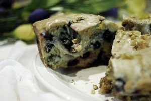 Blueberries 'n' Cream Bread with Lemon Glaze